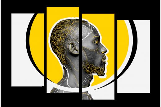Модульная картина Африканская эстетика